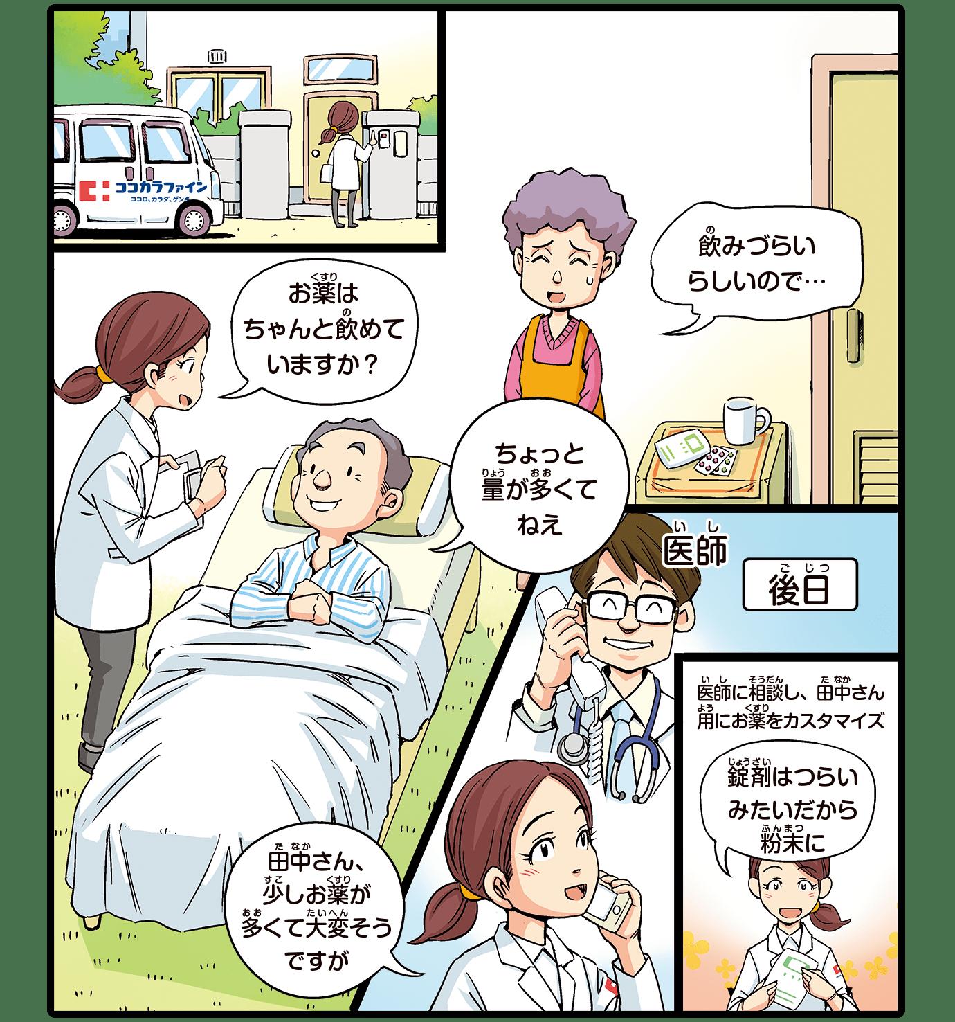 在宅医療で薬の飲み方・管理を一緒に