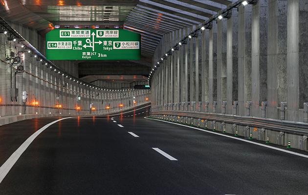 外環道のトンネル