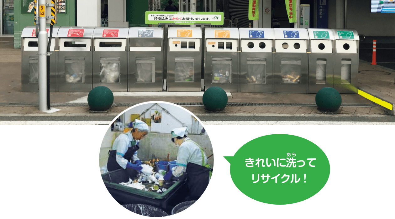 ごみをリサイクル