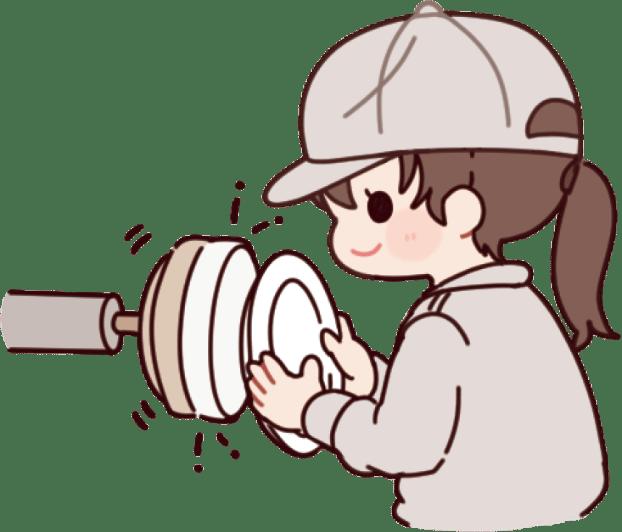 回転する砥石