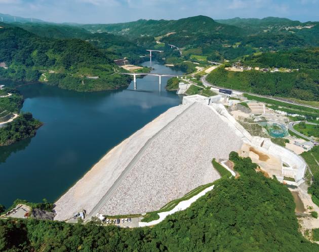 九州・大分県にある大分川ダム