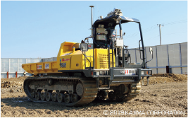 月面で活躍する建設機械の研究も、進められているよ。