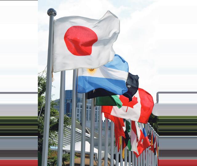 外交・国際会議での場面