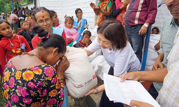 被災地の援助活動