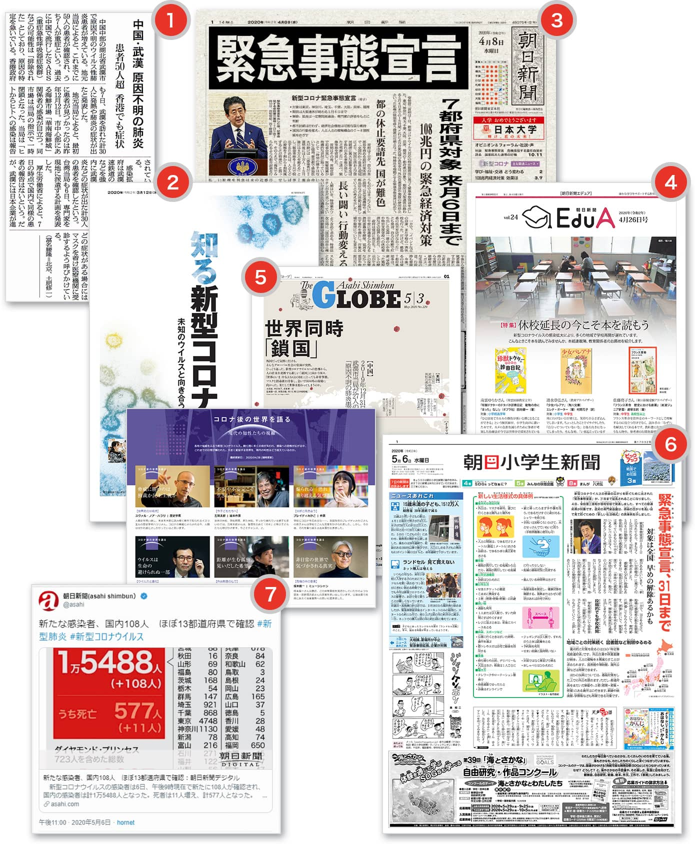 新聞やインターネットなどさまざまなメディア