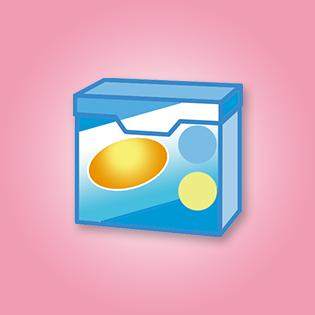 紙の箱に入った粉洗剤