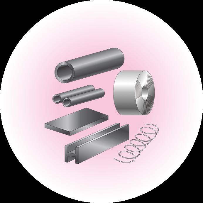 いろいろな形の鉄鋼製品をつくる