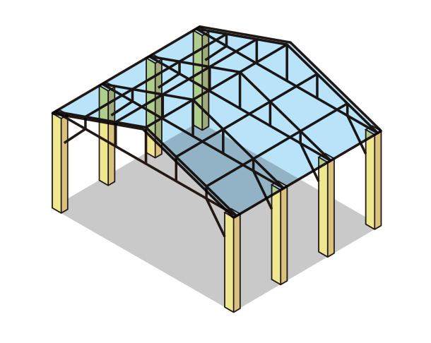 トラス構造(山形トラス)