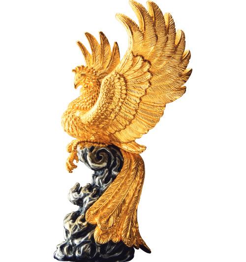 純金置物 「鳳凰」
