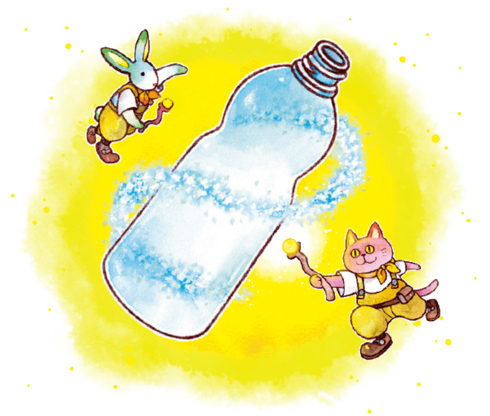 ペットボトルは生まれ変わる