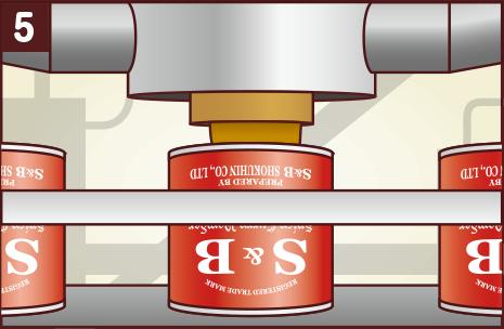 仕上げ:缶の中にカレー粉を入れて密封し、みんなの食卓へ!