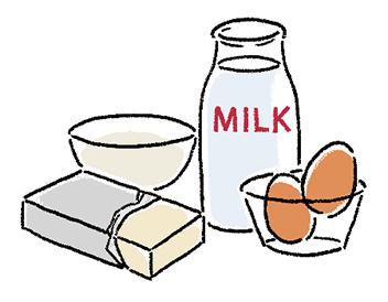 卵、牛乳、小麦粉、バターなどを混ぜ合わせて、シュークリームの生地を作ります。