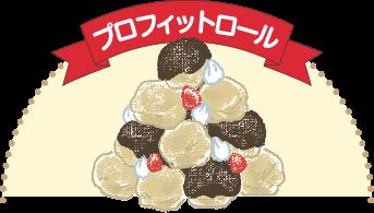 小さめのシュークリームをかるく積み上げて、チョコレートソースなどをかけたもの。