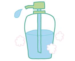 シャンプーのボトルも簡単なポンプさ