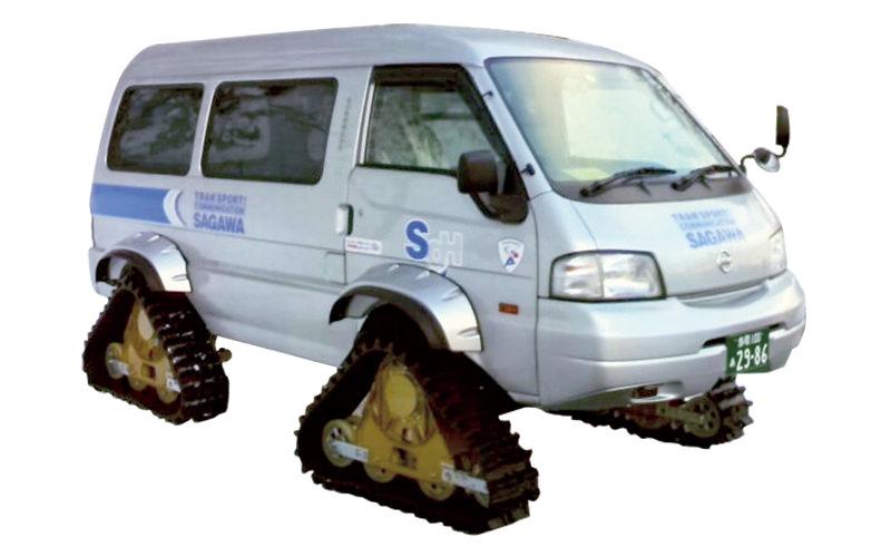 クローラー付きの車両