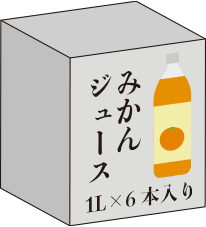 ジュースやビールの箱
