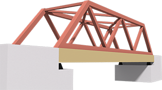 鉄橋やタワーと同じトラス構造