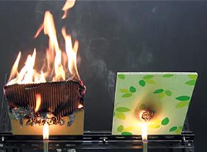 紙なのに燃えにくい