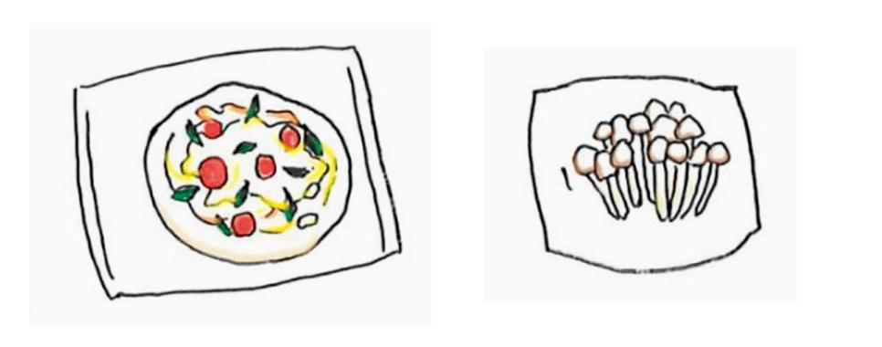 ピザ・きのこ