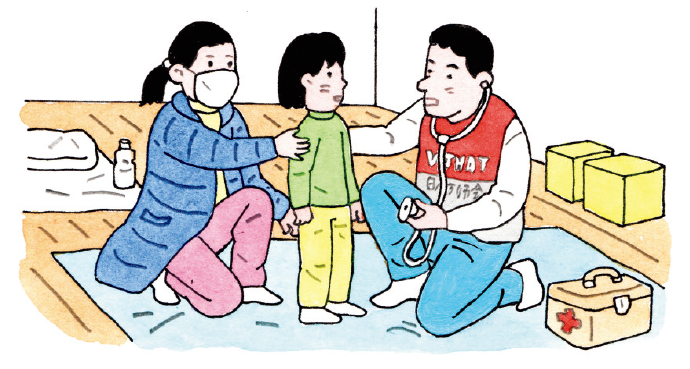 被災者の診療や健康管理