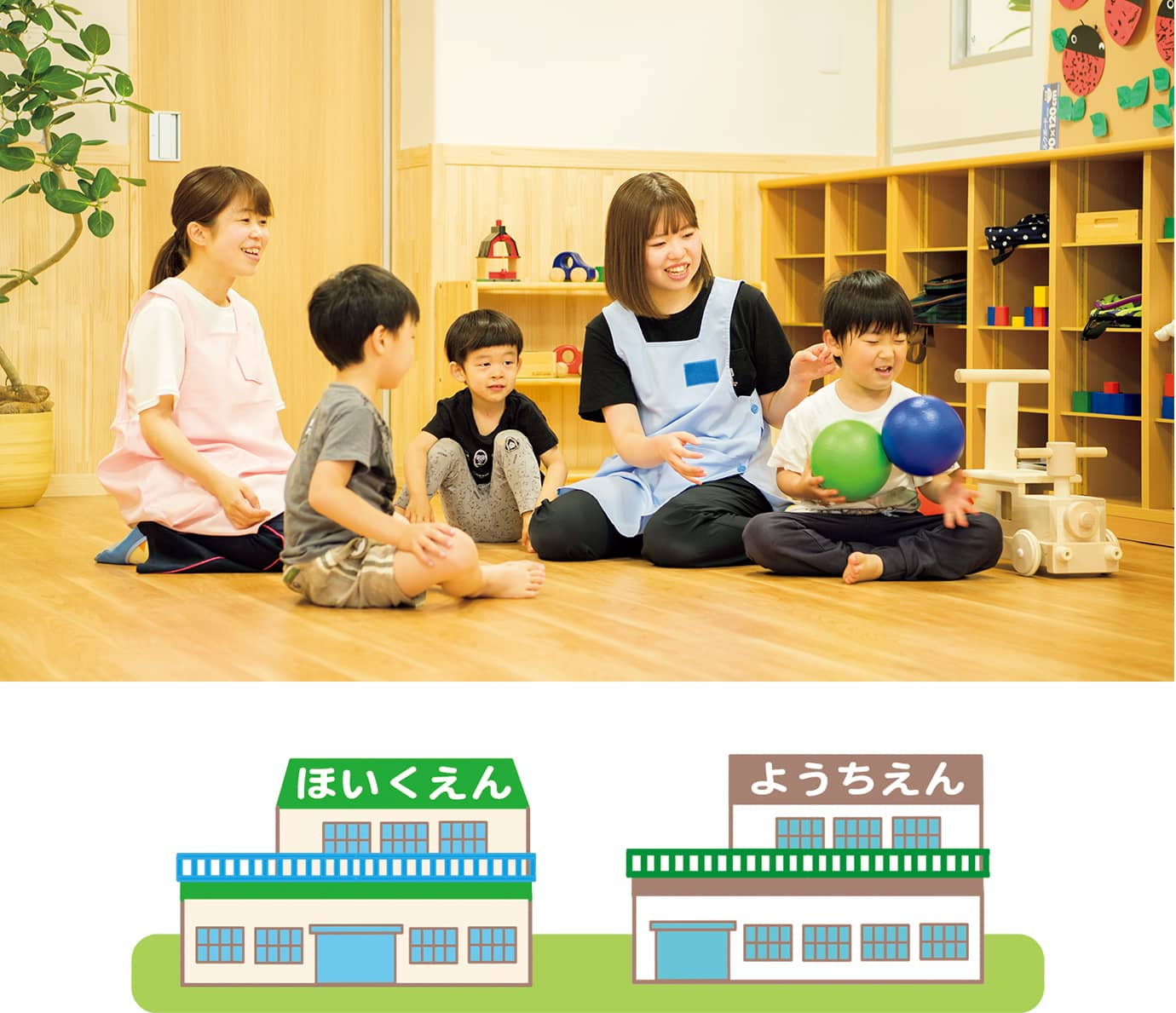 保育園と幼稚園はどう違うの?