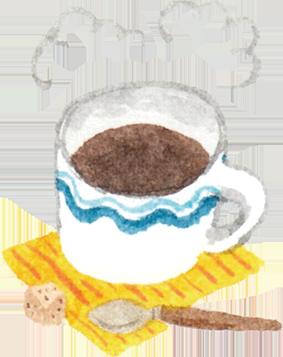 ブレンドコーヒーのできあがり!