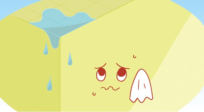 天井から水もれが…
