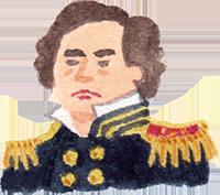 黒船のペリー提督