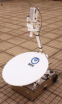 災害時に役立つ小型衛星通信装置