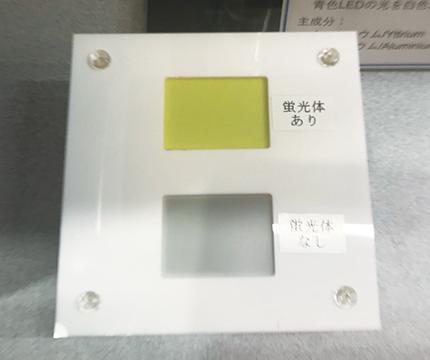 黄色の蛍光体を塗ったフィルター