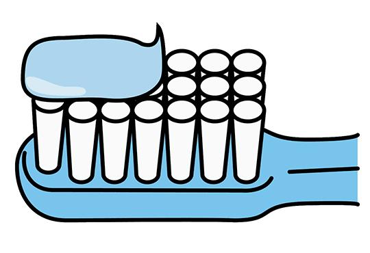 歯みがき剤の量