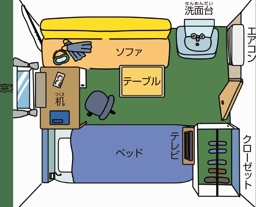 船員の部屋