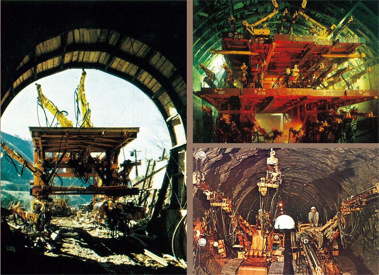 ドリルジャンボは歴史的な大工事で使われてきた