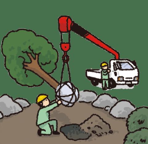造園の作業