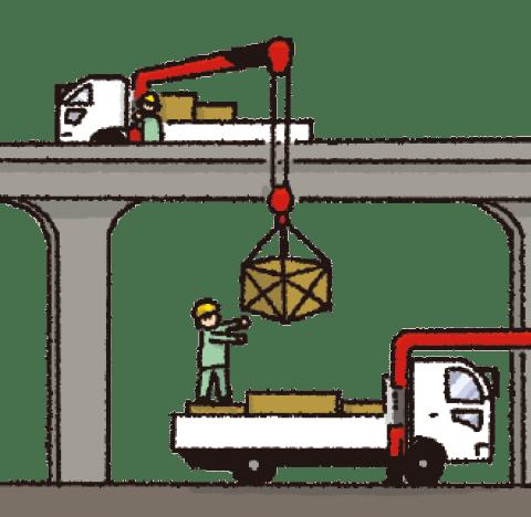 荷物の積み替え