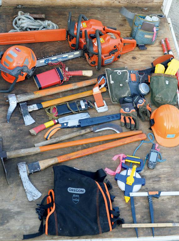 林業のプロが使う道具
